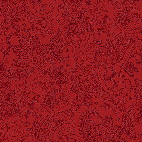 A Festive Season~Red Paisley Cotton Fabric by Benartex