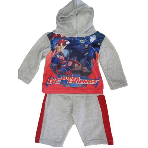 Marvel Baby Boys Gray Superheroes Print Stripe 2 Pc Pants Set 12-24M