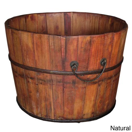 Wooden Rice Bucket Natural