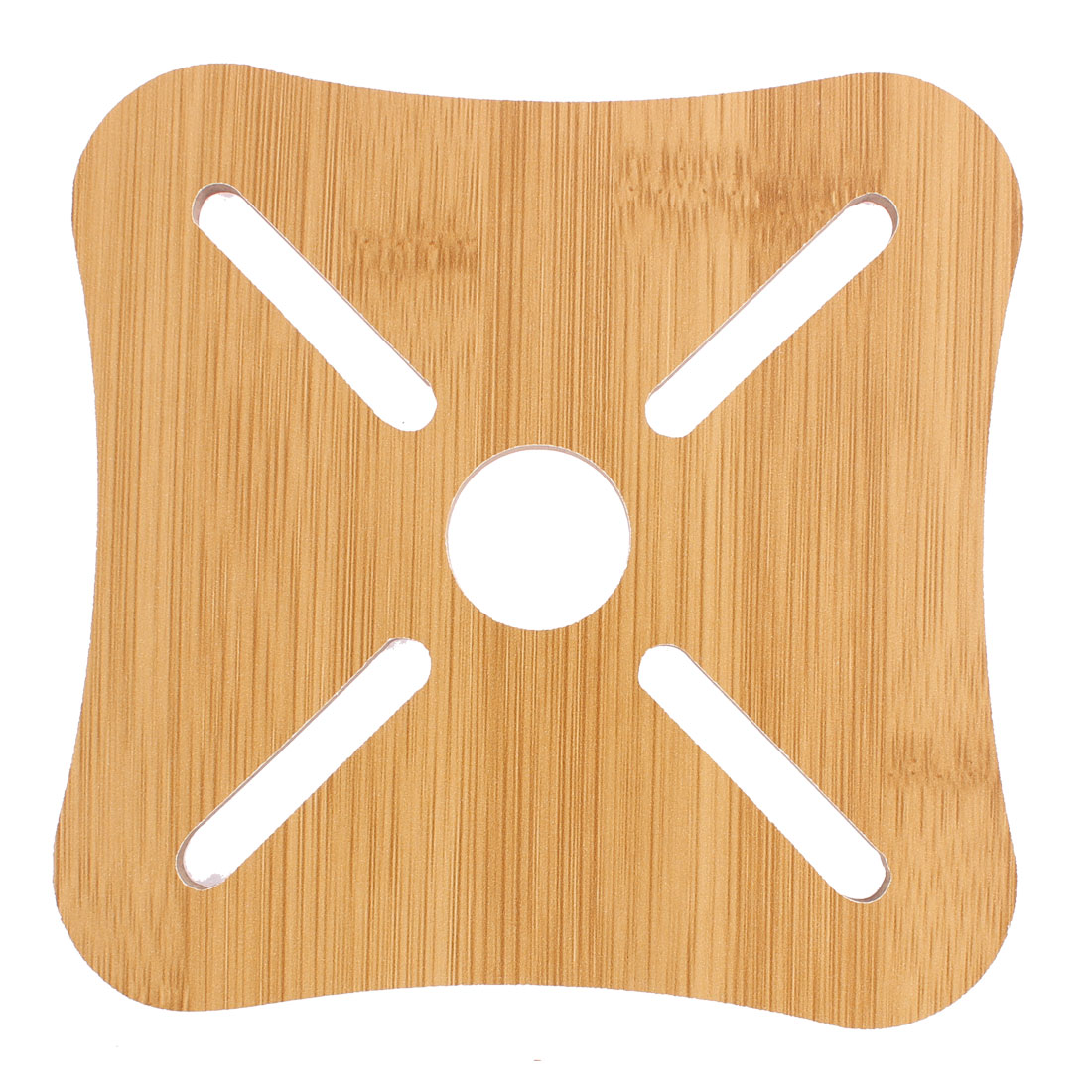 Unique Bargains Bamboo Square Shaped Cup Plate Pot Heat Resistant Mat Coaster Pad