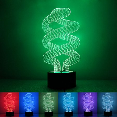 Touch/Button 3D Illusion Tornado 3dlamp Lamp Acrylic LED Night Lamp Bulbing Light Table Desk 7 Color Change for Home Halloween Decorations](Halloween Mirror Illusion)