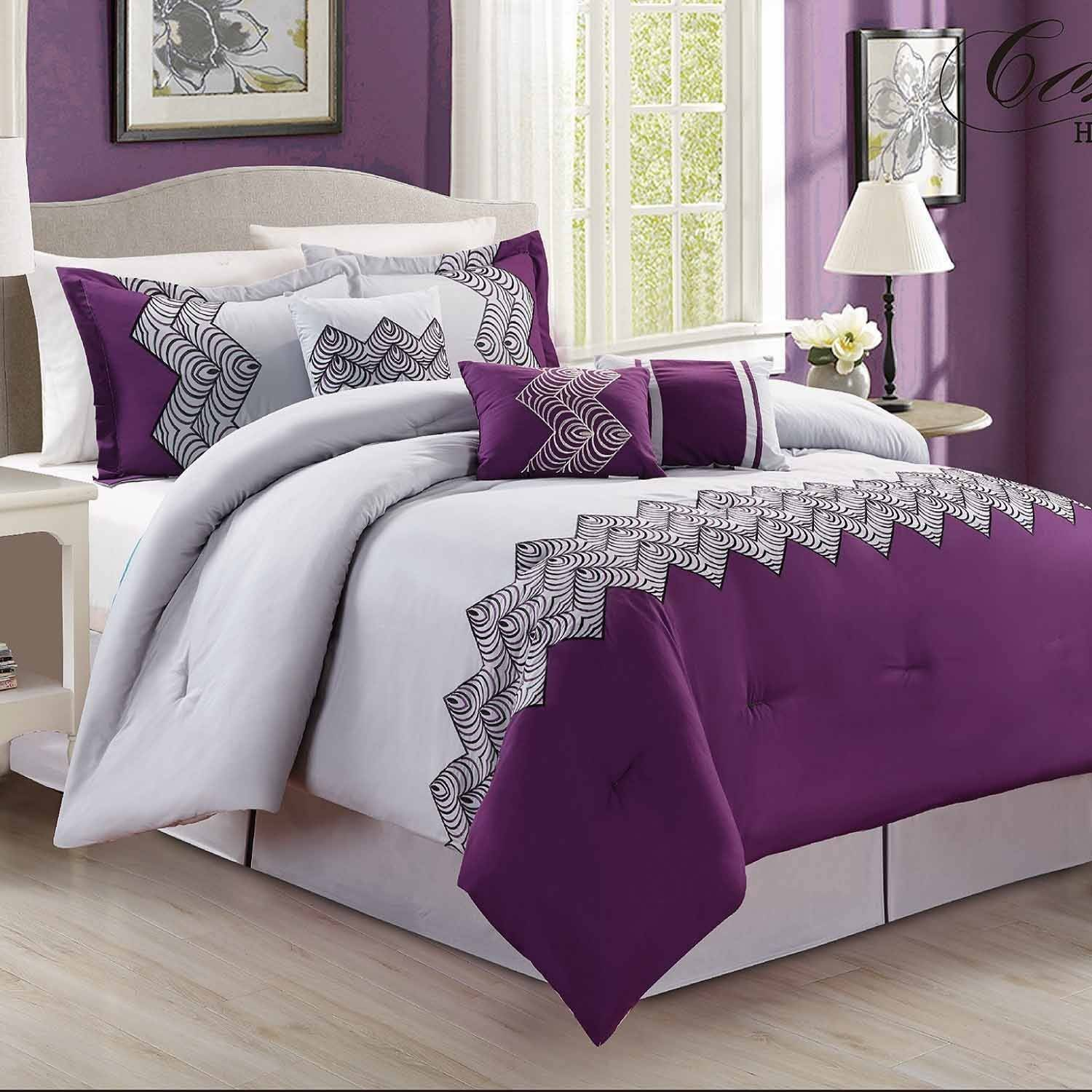 Fashion Street Emparial 7 Piece Embroidered Bedding