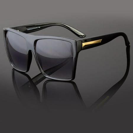 Square Flat Top Large Sunglasses Big Oversized Huge Gradient Frame Women (Cheap Big Sunglasses)