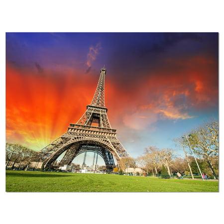 Paris Eiffel TowerUnder Colorful Sky - image 1 of 3