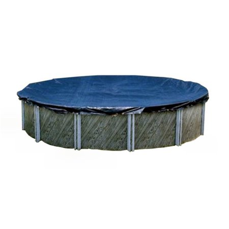 Swimline PCO834 30 Foot Round Above Ground Winter Swimming Pool Cover, Blue Armorkote Winter Pool Cover