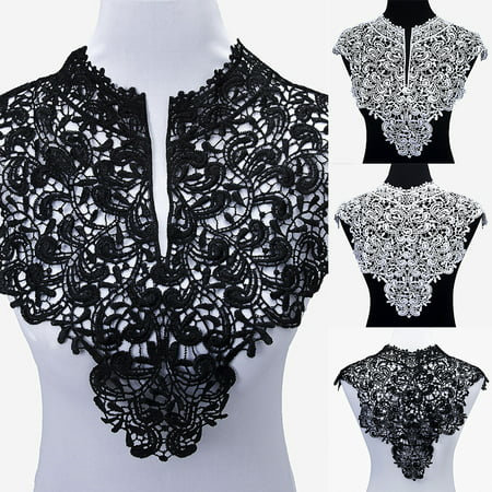 Heepo 1 Pc Applique Lace Fabric Sewing Craft Embellishments Trims DIY Neck Collar