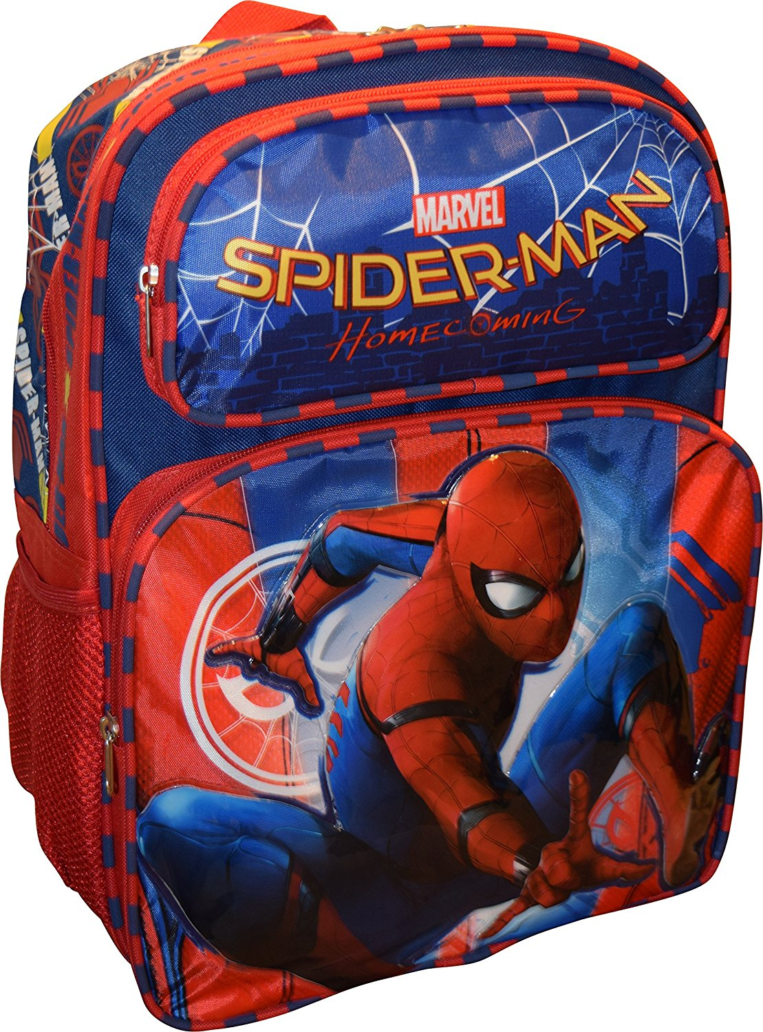"Marvel Spiderman Home Coming Deluxe 16"" School Bag Backpack by"