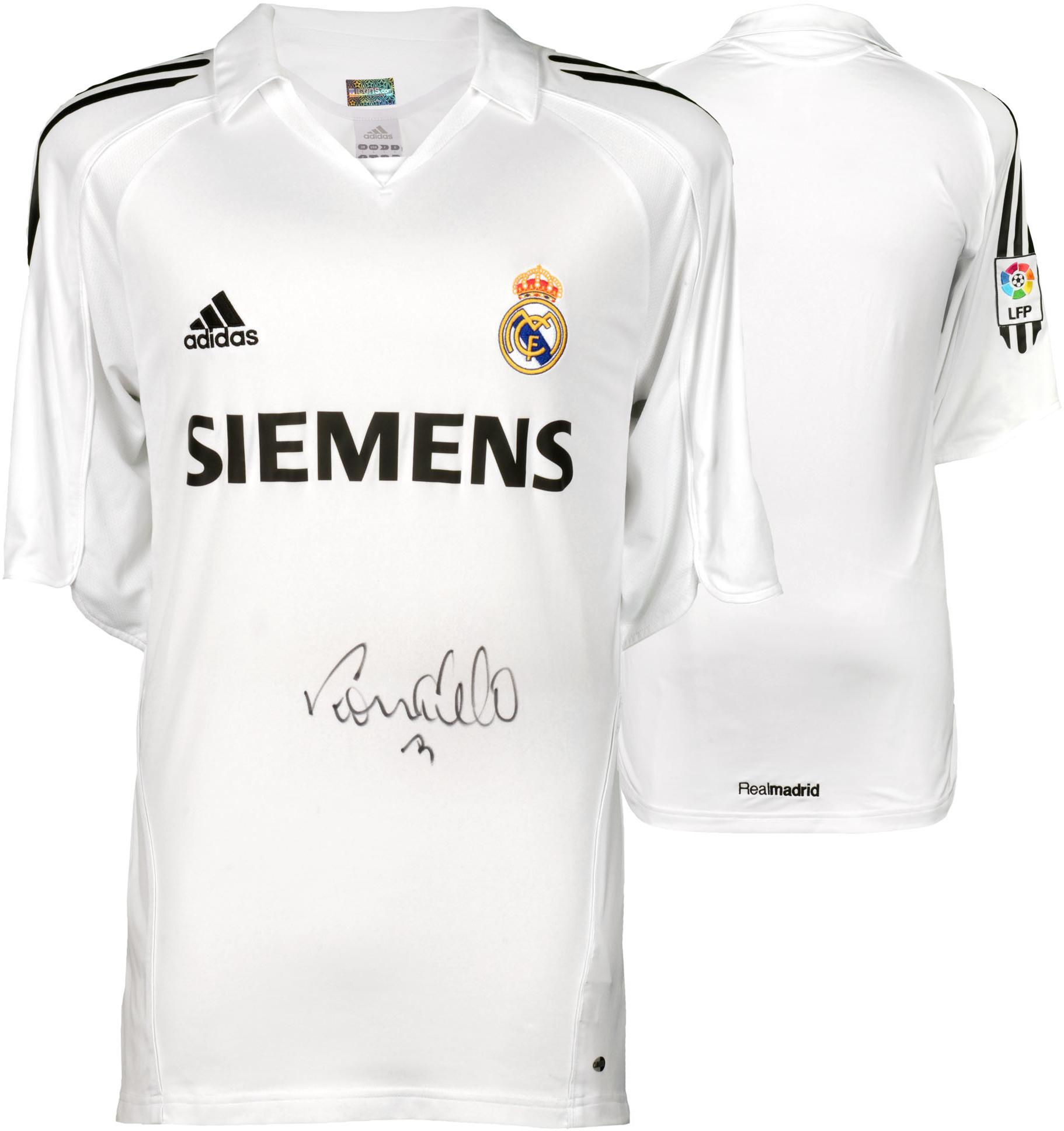 wholesale dealer 897f9 6996f Ronaldo Real Madrid Autographed 2005-2006 White Adidas Front-Signed Jersey  - ICONS - Fanatics Authentic Certified