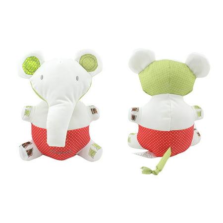 Baby Appease Doll Baby Pram Bed Bells Soft Hanging Toy Elephant Handbells Infant Newborn Rattles