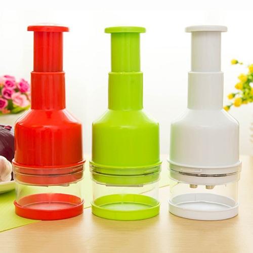 Micelec Kitchen Pressing Vegetable Onion Garlic Chopper Cutter Slicer Peeler Dicer Tool by 5.18