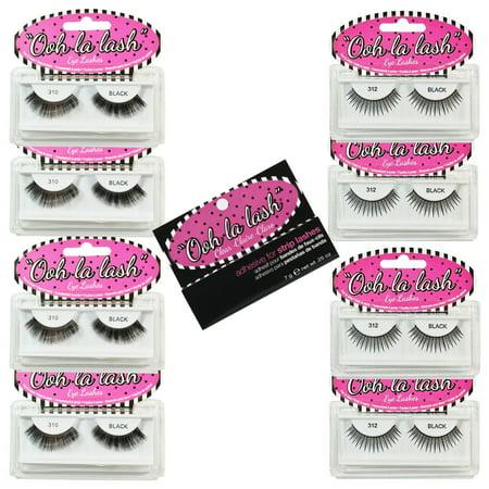 2ddcfd2b189 False Eyelashes Natural/Glamour Value Kit #1 (4 x #310, 4 x #312, 1 ...