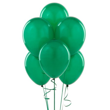 Green Latex Balloons, 12in, 10ct - Balloons Glow In The Dark