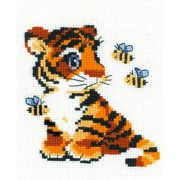 """Stripies Counted Cross Stitch Kit, 6"""" x 7"""" 10 Count"""