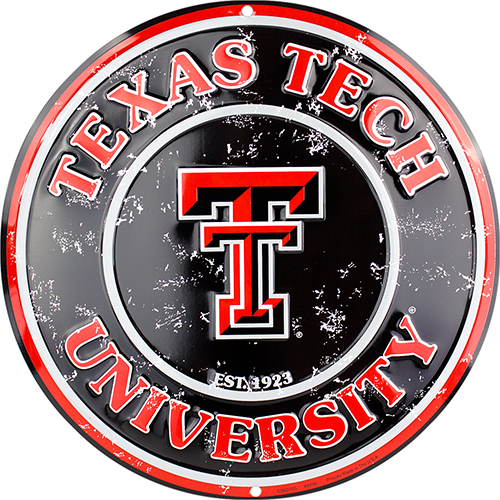 Texas Tech Aggies Circle Sign