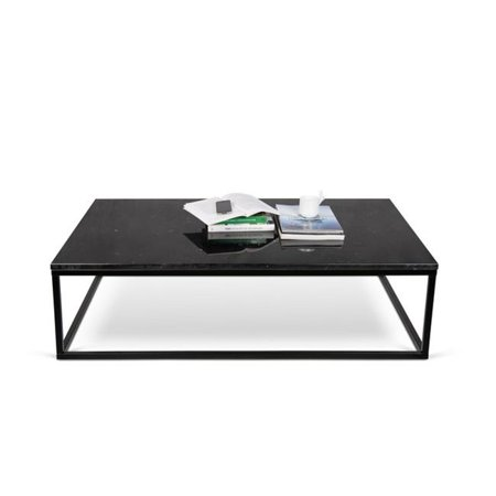 30 Inch Maple Top - Temahome 9500.623097 Ines Martinho Prairie Marble Coffee Table, 47 x 30 Inch - Black Marble Top - Black Lacquered Steel Legs