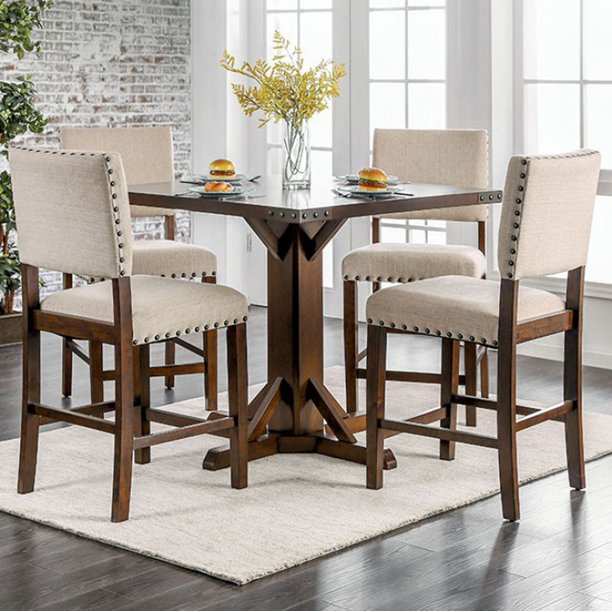 Glenbrook Brown Cherry Counter Height Dining Table Walmart Com Walmart Com