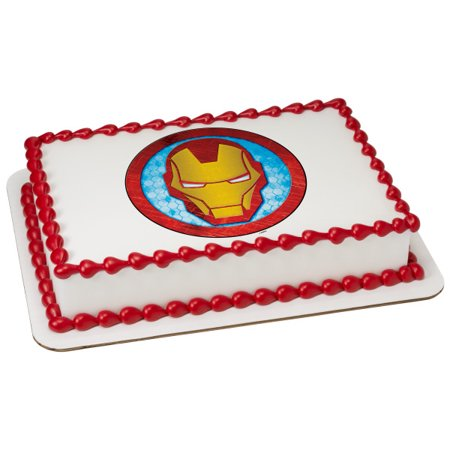 Marvels Avengers Iron Man Icon 1 4 Sheet Image Cake Topper Edible Birthday Party
