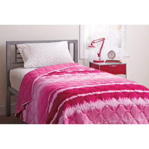your zone quilt, pink tie-dye