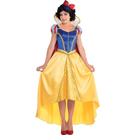 Costumes USA Snow White and the Seven Dwarfs Snow White Costume Couture for Adults, Includes a Dress and Hat - Couture Costume D'halloween
