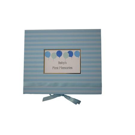 Blue Luxe Baby Keepsake Box - Baby Keepsake Box