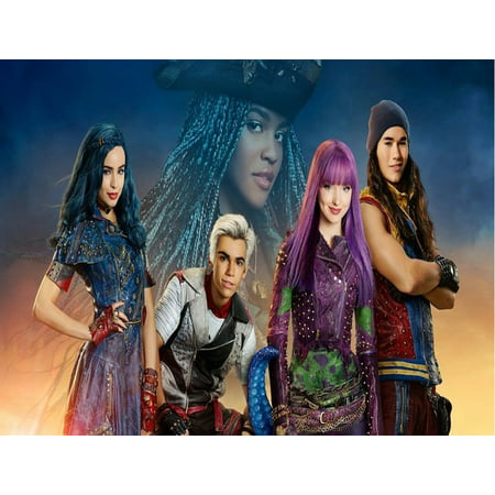 Disney Descendants party edible cake image cake topper ...
