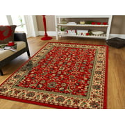 Traditional Area Rugs On Clearance 5x7 Persian Rug For Living Room 5x8 Red