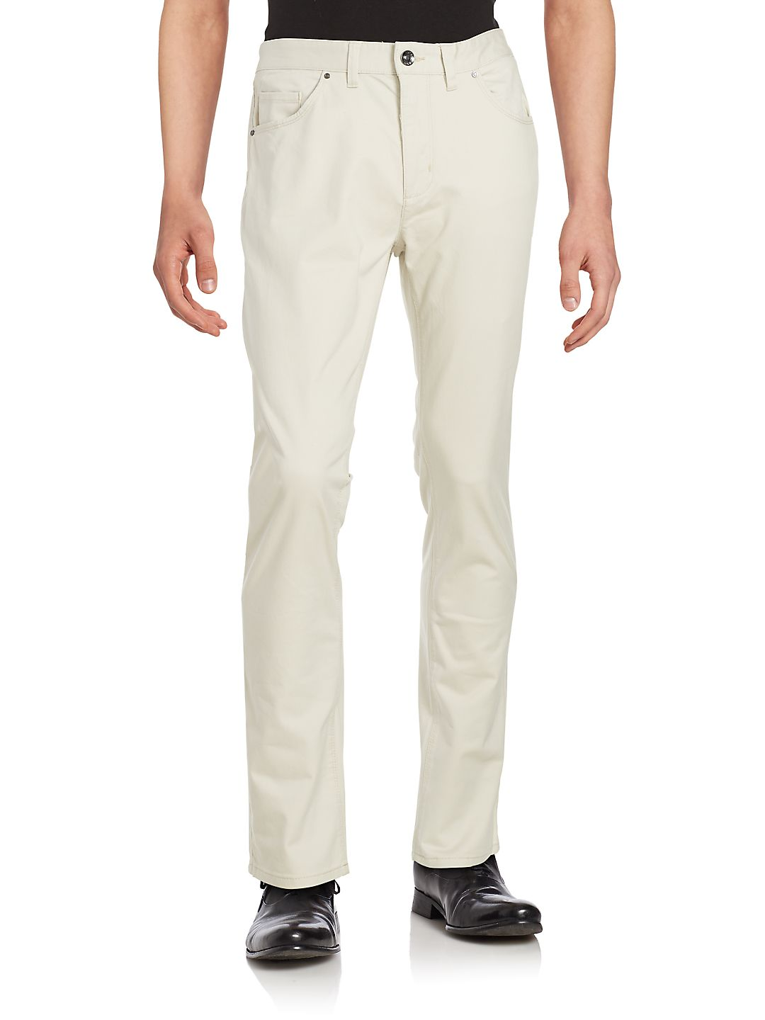 Tailored-Fit Twill Pants