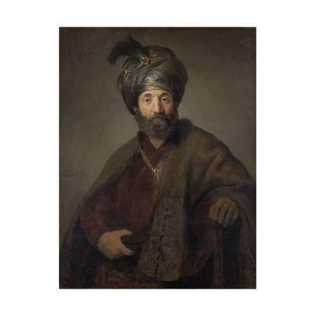 Man in Oriental Costume, C.1635 Print Wall Art By Rembrandt van Rijn (Oriental Art Supply)
