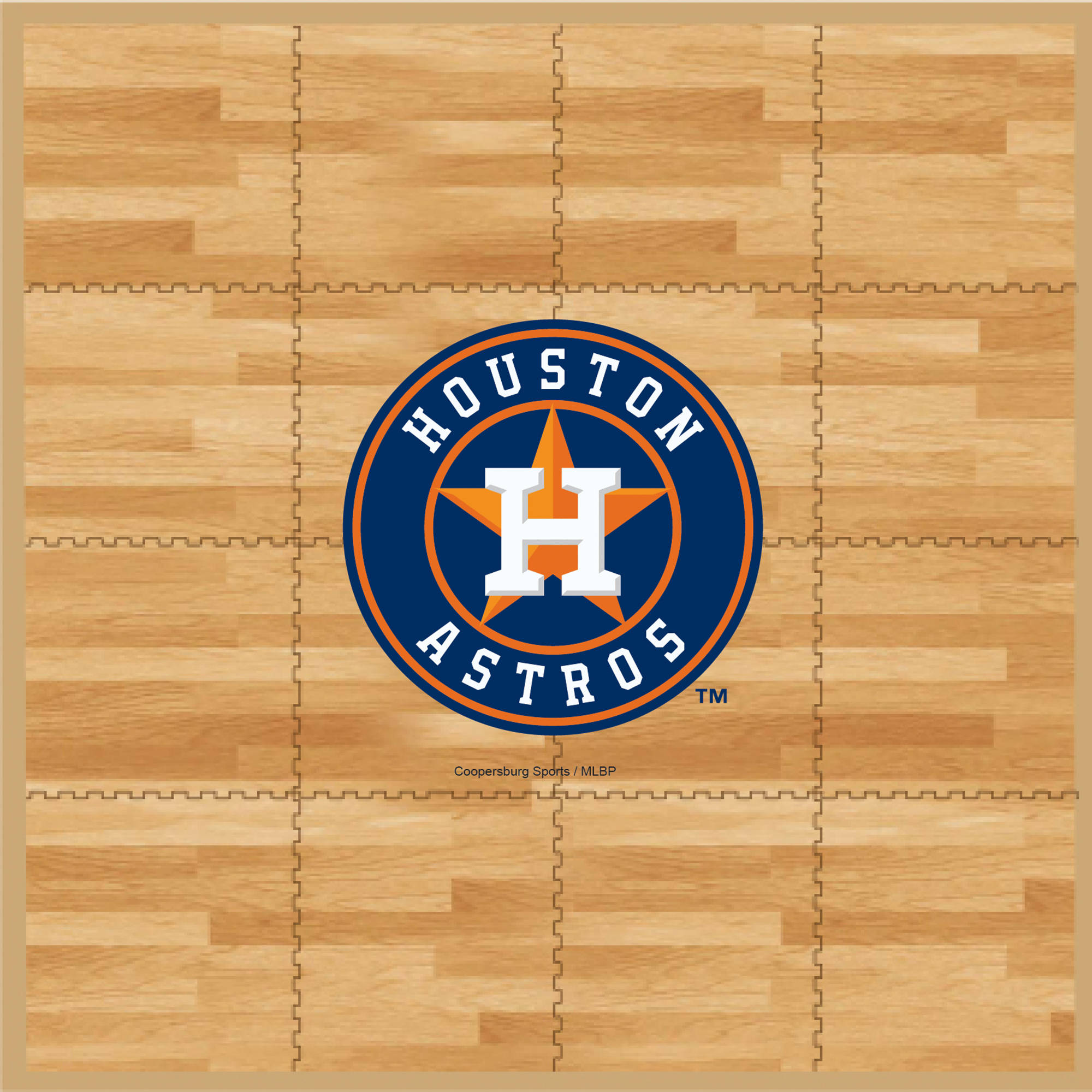 MLB Houston Astros Portable Foam Puzzle Tailgate Floor Mat by Coopersburg Sports
