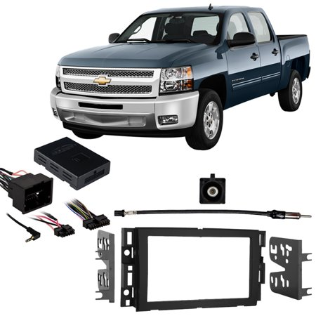 Fits Chevy Silverado Pickup 2012-2013 w/ OE NAV DDIN Harness Radio Dash Kit ()
