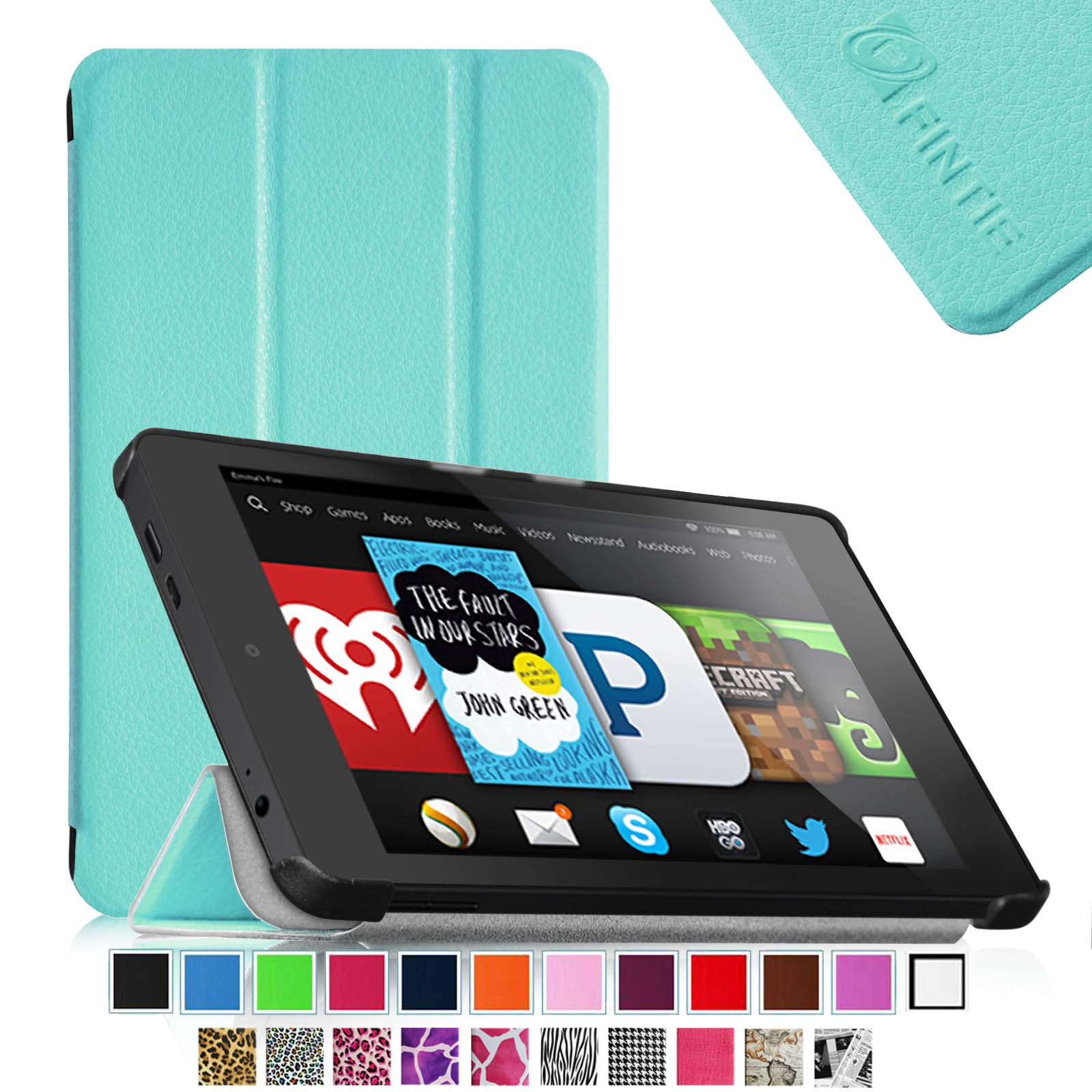 Fintie Kindle Fire HD 6 Tablet (2014 Oct Release) SmartShell Case - Slim Stand Cover with Sleep/Wake Feature, Blue