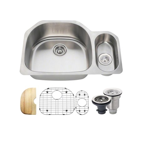 Mr Direct Stainless Steel 32 X 21 Double Basin Undermount Kitchen Sink With Additional Accessories