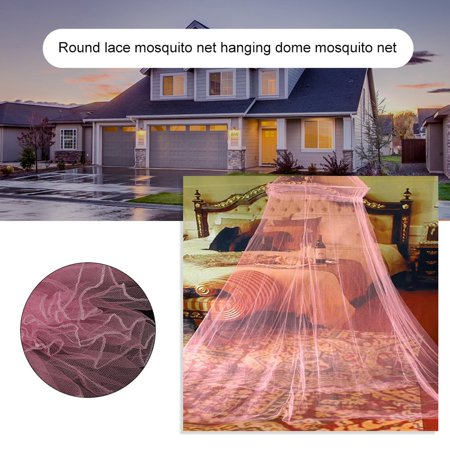 Outdoor Round Lace Insect Bed Canopy Netting Curtain Hung Dome Mosquito Nets - image 1 of 9