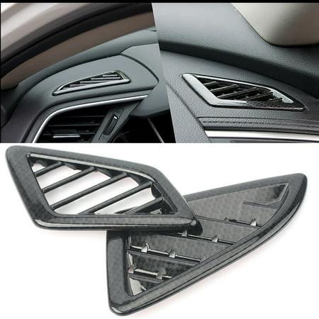 GZYF ABS Black Carbon Fiber Dashboard AC Air Vent Outlet Trim For Honda Civic 2016-2017 Honda Carbon Fiber Civic Fender