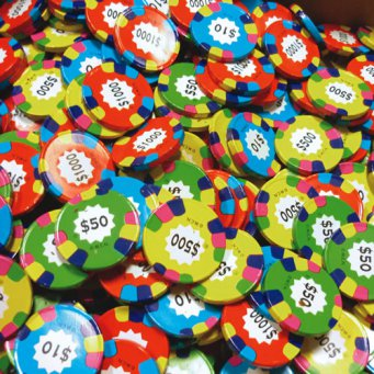 Chocolate Poker Chips (Madelaine Assorted Chocolate Poker Chips, (10)