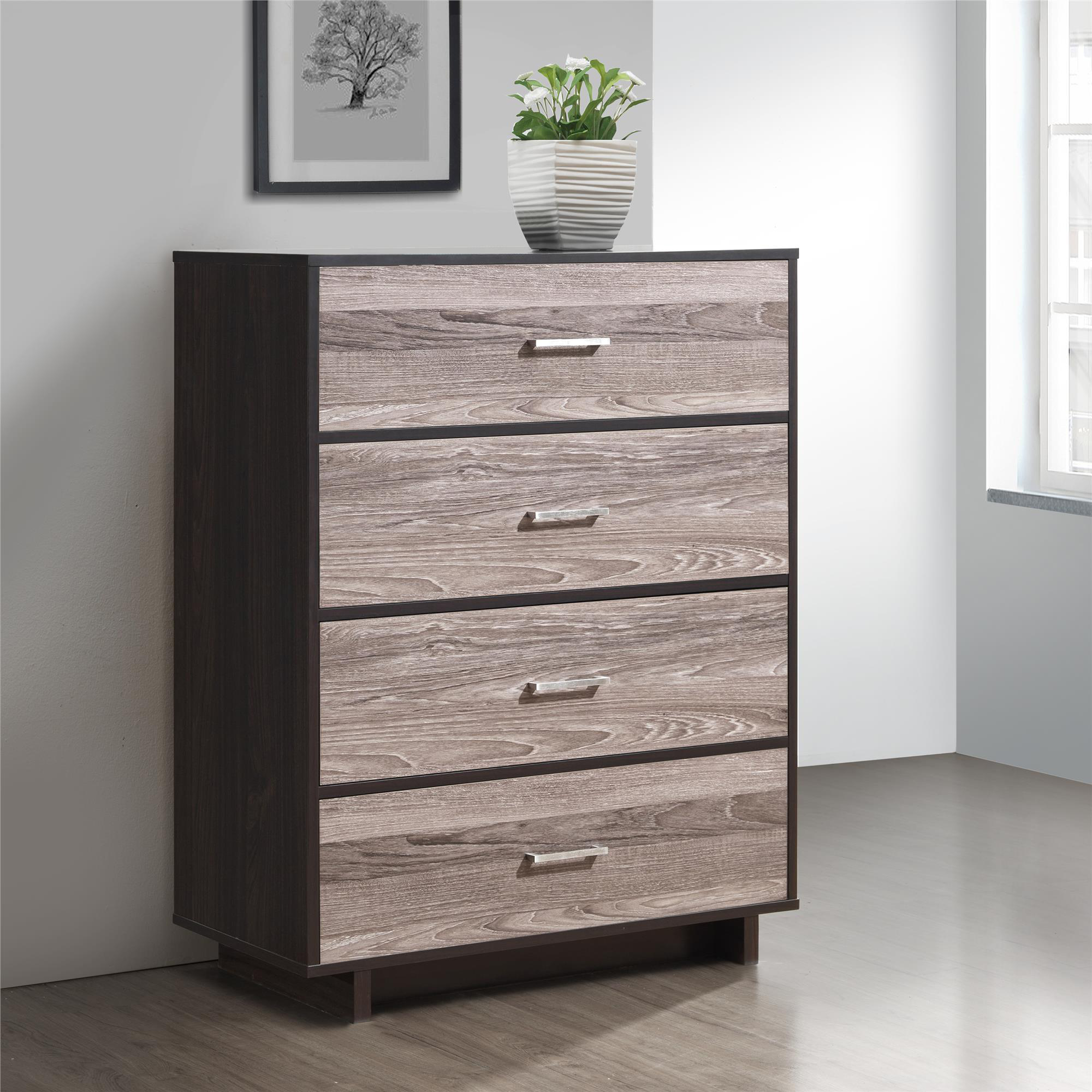 Ameriwood Home Colebrook 4 Drawer Dresser, Multiple Colors