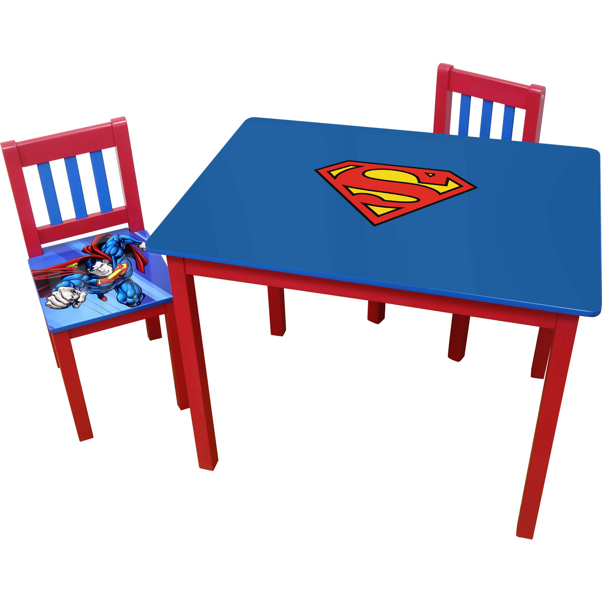 O'Kids Superman Table and Chairs Set, Large
