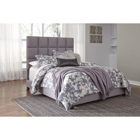 Ashley Furniture B130 381 Gray Finish Fabric Uph Queen Bed With Tufted Headboard