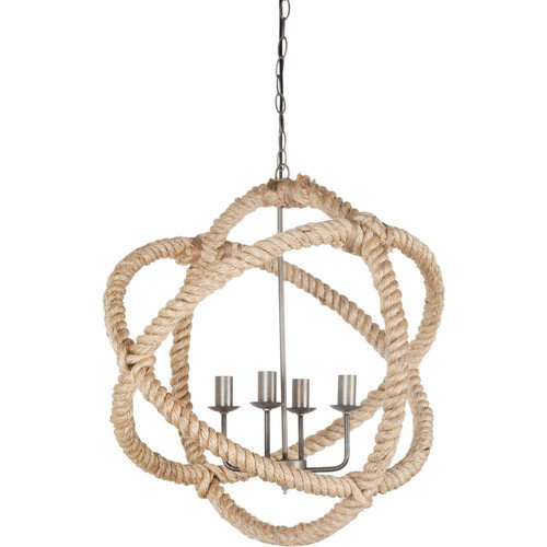 Mercana Coastal Chandelier With Beige Finish 65098