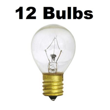25 Watt 25W S11 Int Base High Intensity Lava Lamp Light Bulbs 12 (S11 High Intensity Bulb)