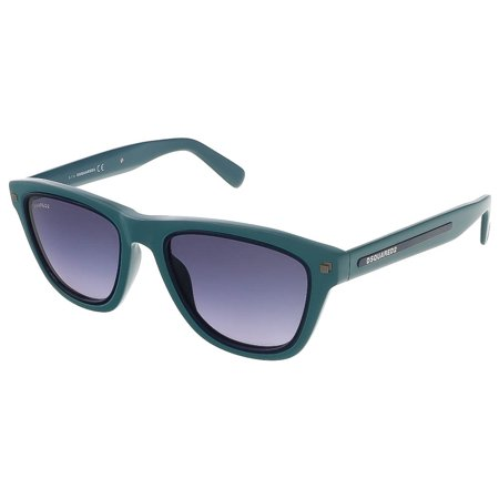 8af511cd06b593 Dsquared - Dsquared DQ0169 S 96W Sea Green Dark Blue Rectangle sunglasses -  Walmart.com