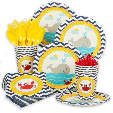 Ahoy Matey Standard Tableware Kit (Serves 8) - Baby Shower Party Supplies