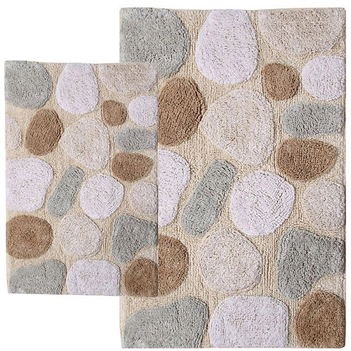 Superb Pebbles 2pc Bath Rug Set Image 1 Of 9