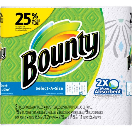 Bounty Select A Size Paper Towels  79 Sheets  2 Rolls