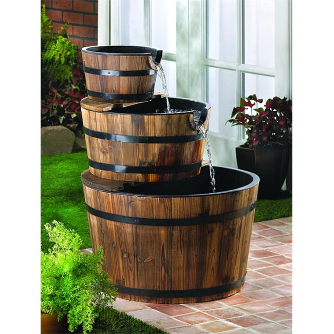DSPS 2398938939393993939 Enchanting Water Barrel Fountain
