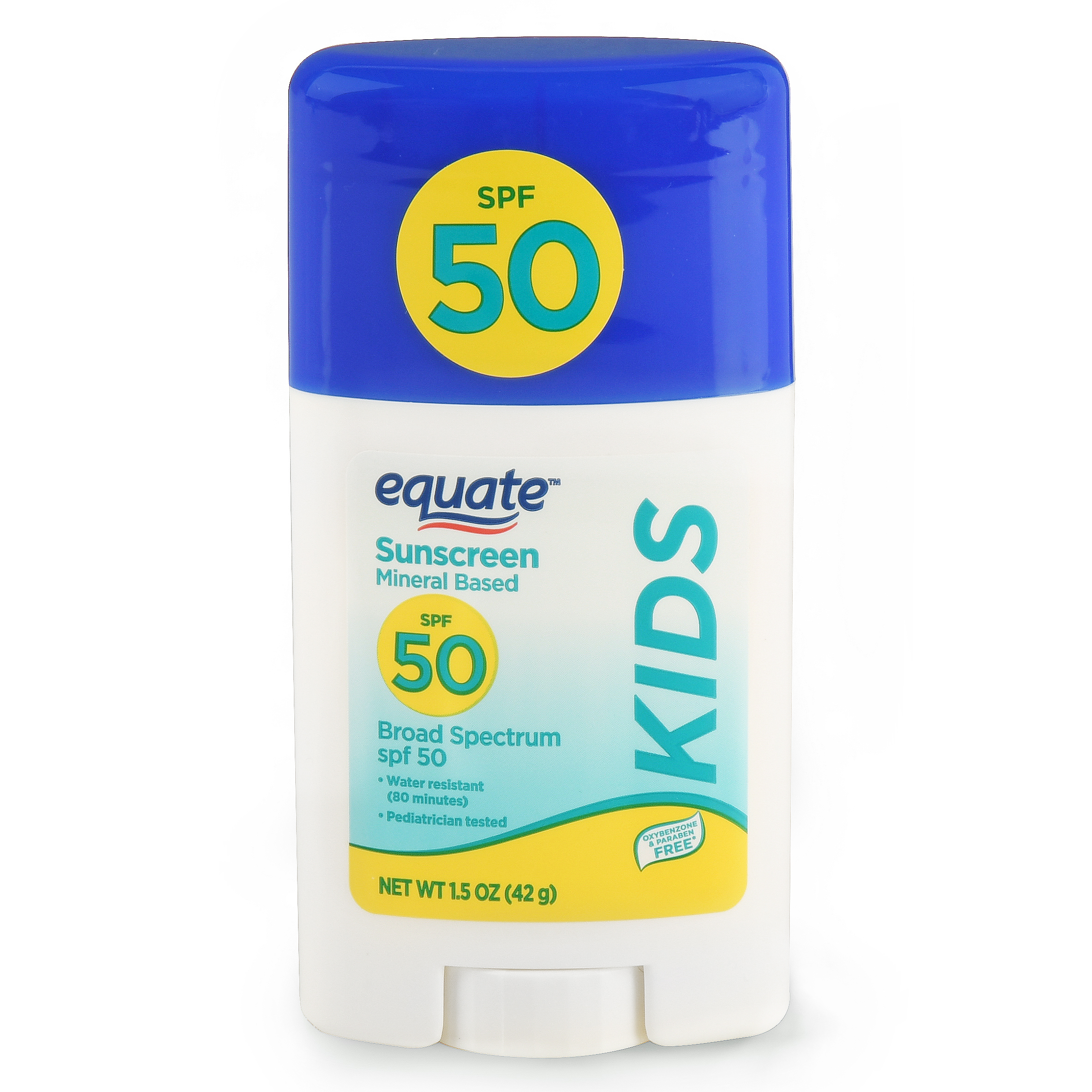Equate Kids Mineral Based Sunscreen Stick, Broad Spectrum, SPF 50, 1.5 Oz
