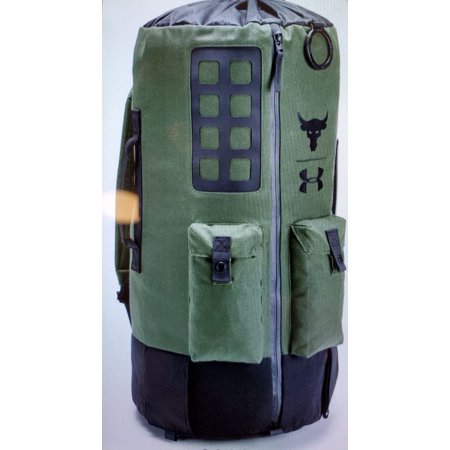 Under Armour Project Rock Dwayne Johnson 60 Black Duffle Gym Bag Backpack