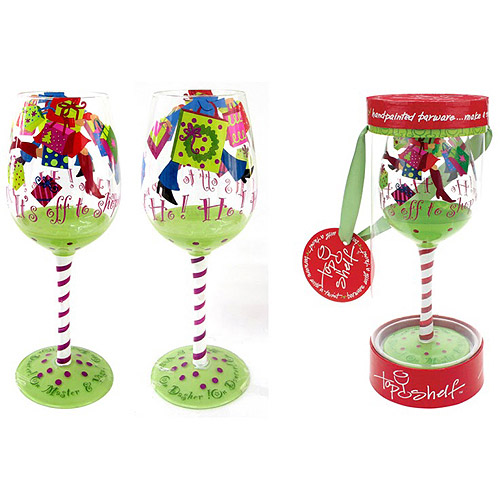 It's Off To Shop We Go Wine Glass