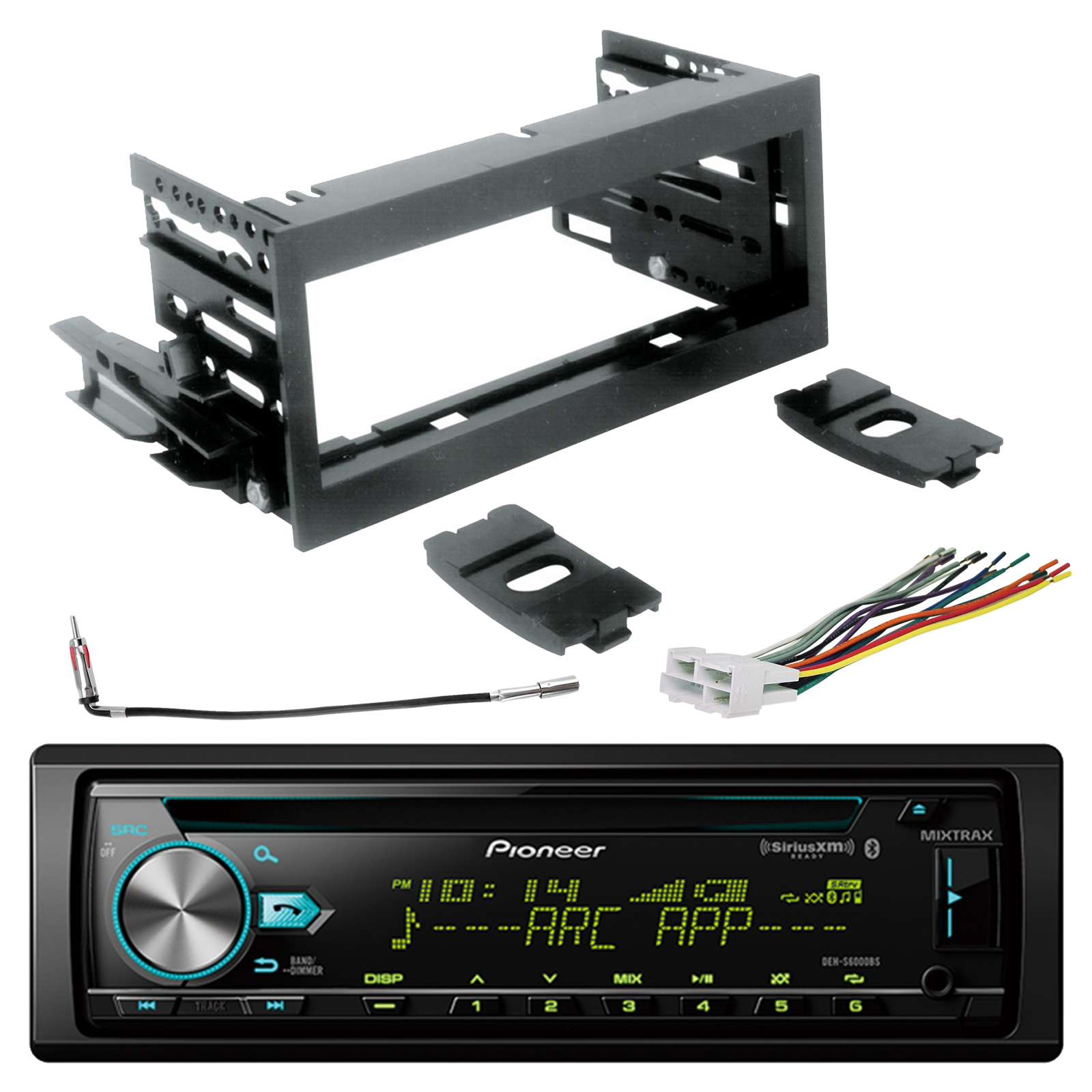 Xm Radio Wiring Harness Adapter Great Installation Of Diagram Satellite Pioneer Single Din Bluetooth Cd Siriusxm Ready Stereo Scosche Rh Walmart Com Aftermarket Adapters Corvette
