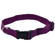 New Earth Soy Dog Collar 18-26In x 1In Eggplant